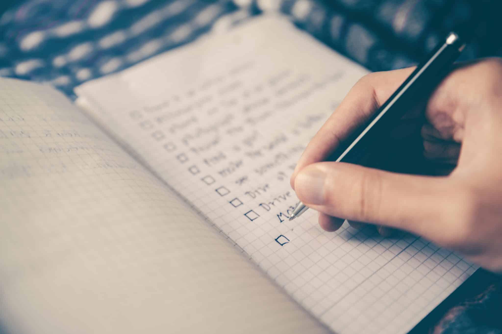 Checklist pour réaliser son plan financier